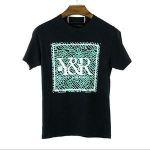 BUCKLE | 'YOUNG & RECKLESS' Black Logo Graphic Tee